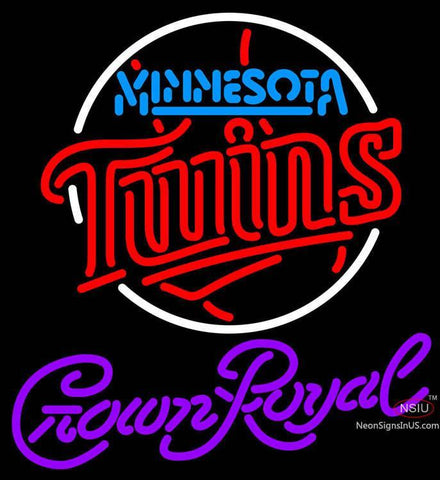 Crown Royal Minnesota Twins MLB Neon Sign