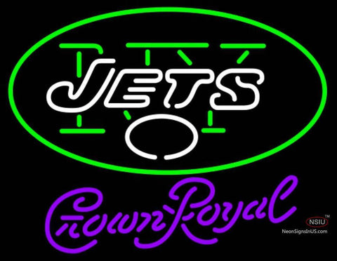 Crown Royal New York Jets NFL Neon Sign