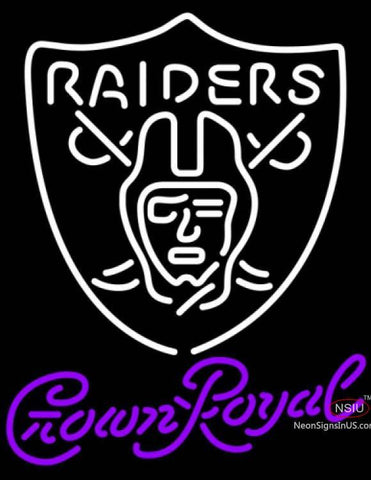 Crown Royal Oakland Raiders NFL Neon Sign