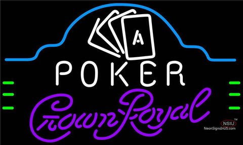 Crown Royal Poker Ace Cards Neon Sign