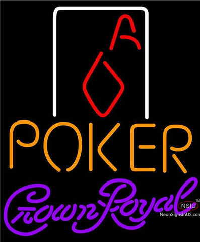 Crown Royal Poker Squver Ace Neon Sign