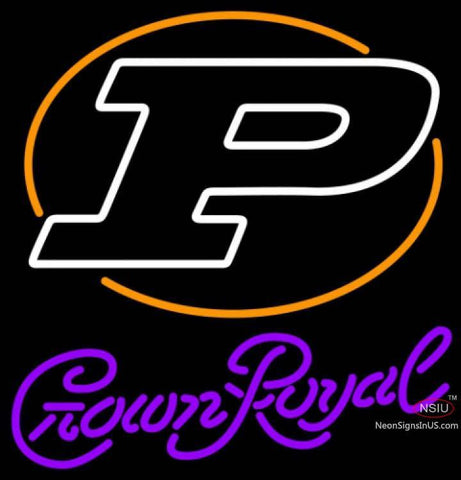 Crown Royal Purdue UNIVERSITY Boilermakers Helmet Neon Sign