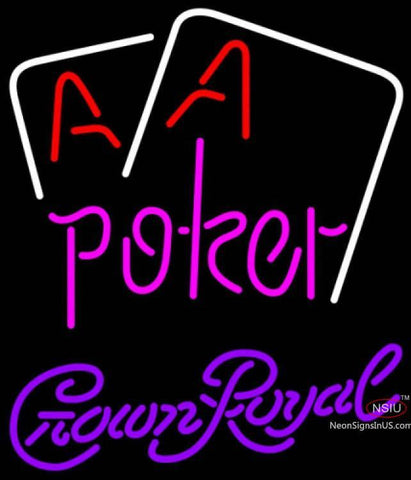 Crown Royal Aces White Cards Poker Neon Sign