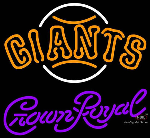 Crown Royal San Francisco Giants MLB Neon Sign