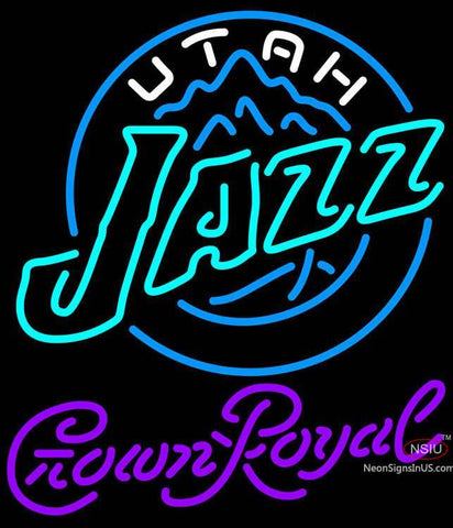 Crown Royal Utah Jazz NBA Neon Sign