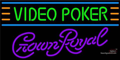 Crown Royal Video Poker Neon Sign 7 7