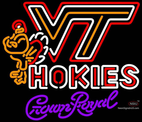 Crown Royal Virginia Tech Vt Hokies Logo Hockey Neon Sign