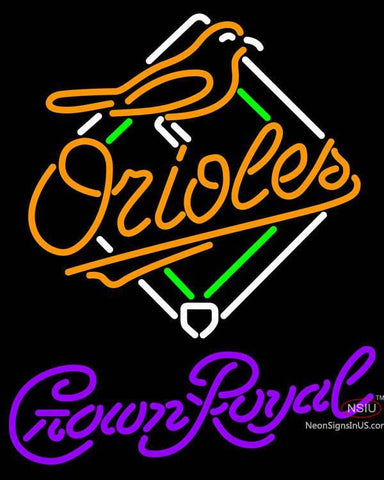 Crown Royal Baltimore Orioles MLB Neon Sign