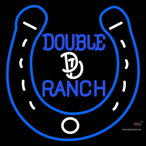 Custom Double D Ranch A Horseshoe Neon Sign