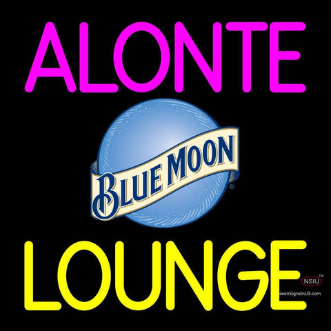 Custom Alonte Lounge With Blue Moon Logo Neon Sign