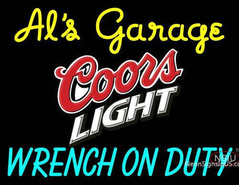 Custom Als Garage Coors Light Neon Sign