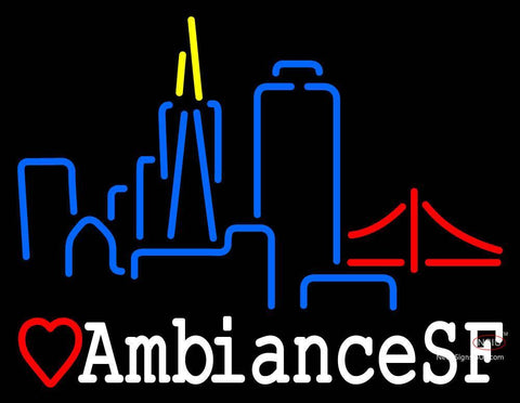 Custom Ambiancesf San Francisco Skyline Neon Sign