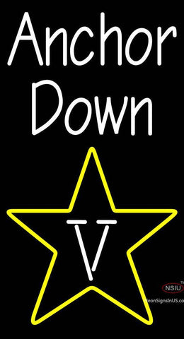 Custom Anchor Down Vanderbilt Commodores Primary  Ncaa Neon Sign