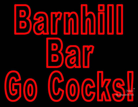 Custom Barnhill Bar Go Cocks Neon Sign