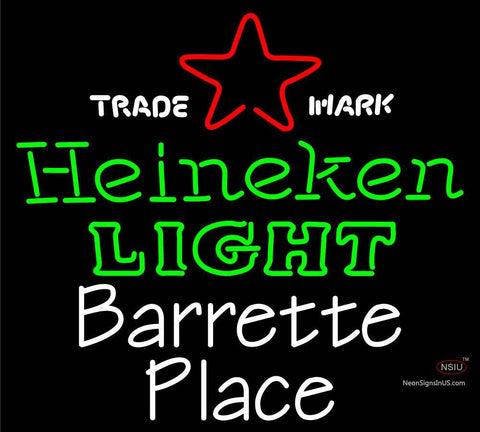 Custom Barrette Place Neon Sign