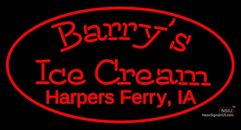 Custom Barrys Ice Cream Neon Sign
