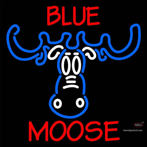 Custom Blue Moose Head Neon Sign