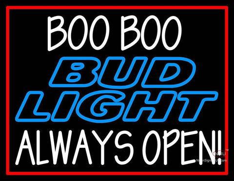 Custom Boo Boo Bud Light Logo Always Open