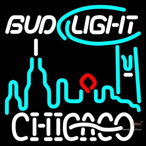 Custom Bud Light Chicago City Neon Sign X