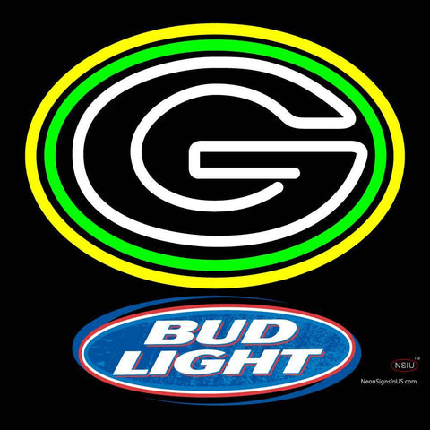 Custom Bud Light Green Bay Packers Nfl Neon Sign