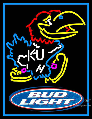Custom Bud Light Kansas Jayhawks Neon Sign
