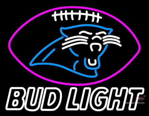 Custom Bud Light Carolina Panthers Decal Sticker Football Neon Sign