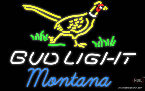 Bud Light Nebraska Montana Neon Sign
