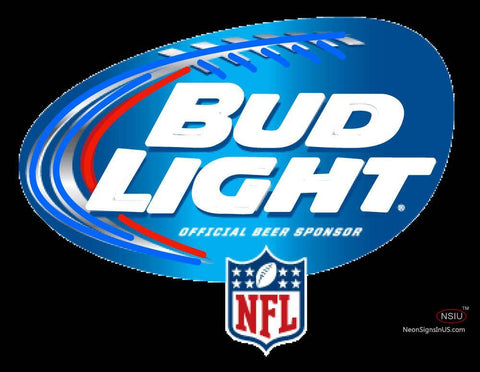 Custom Bud Light Nfl Logo Neon Sign
