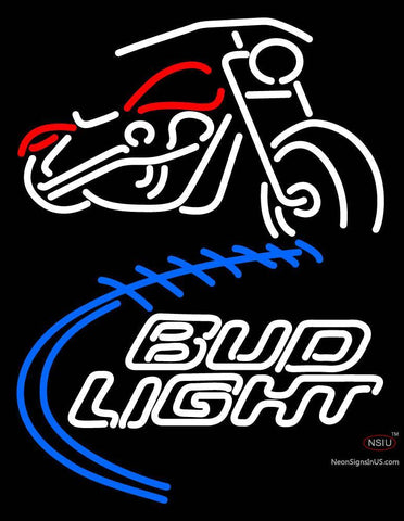 Custom Bud Light  With Motorcycle Neon Sign 7