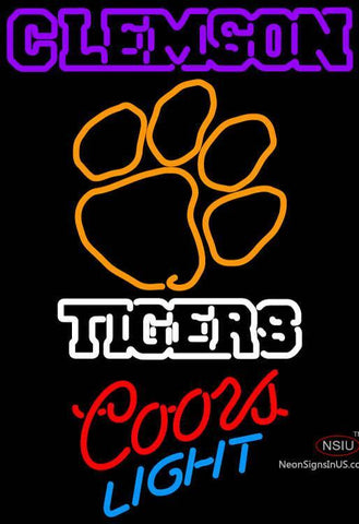 Custom Budlight Logo Clemson University Tiger Neon Sign