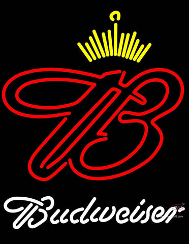 White Budweiser Crown Neon Sign