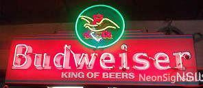 Custom Budweiser Kings Of Beer Neon Sign