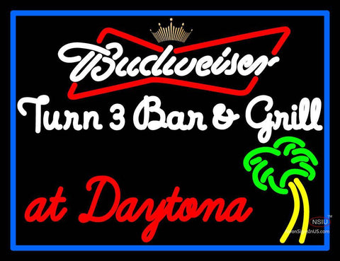 Custom Budweiser Turn  Bar And Grill Neon Sign