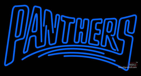 Custom Carolina Panthers  Wordmark Logo Neon Sign