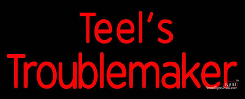 Custom Case Agriculture Teels Troublemaker Neon Sign