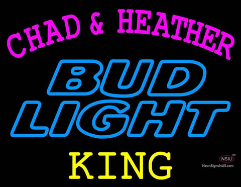 Custom Chad And Heather King Budlight Neon Sign
