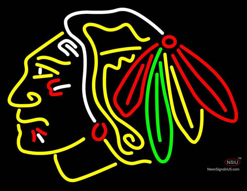 Custom Chicago Blackhawks Primary Logo Nhl Neon Sign