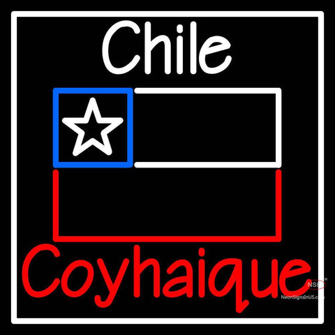 Custom Chile Coyhaique With Flag Neon Sign