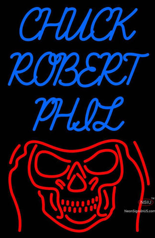 Custom Chuck Robert Phil Neon Sign