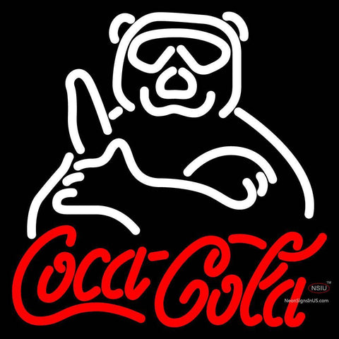 Custom Coca Cola Sign With Panda Neon Sign