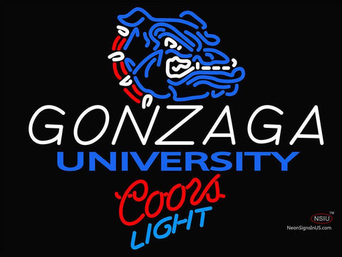 Custom Colors Light Logo Gonzaga University Neon Sign