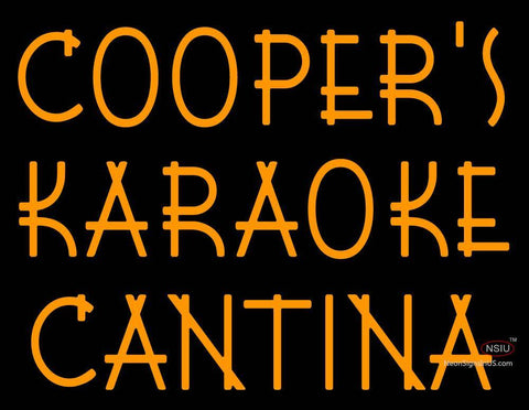 Custom Coopers Karaoke Cantina Neon Sign