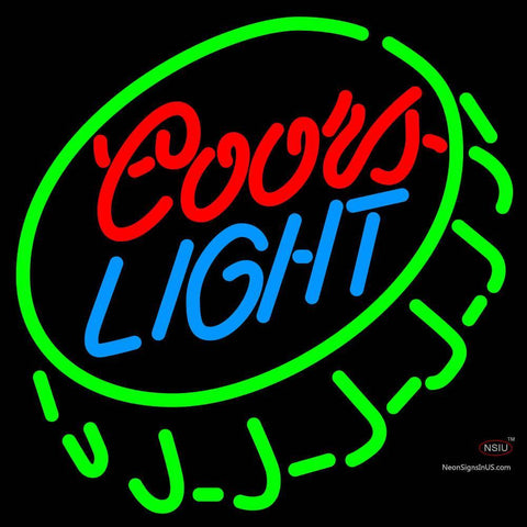 Custom Coors Light Open Bottlecap Neon Beer Sign