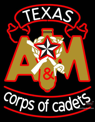 Corps Of Cadets A And M Logo Neon Sign