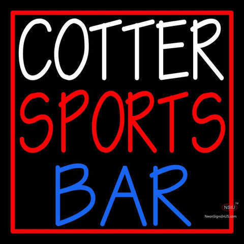 Custom Cotter Sports Bar Logo Neon Sign
