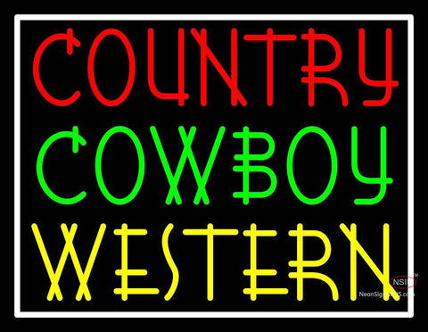 Custom Country Cowboy Western Neon Sign
