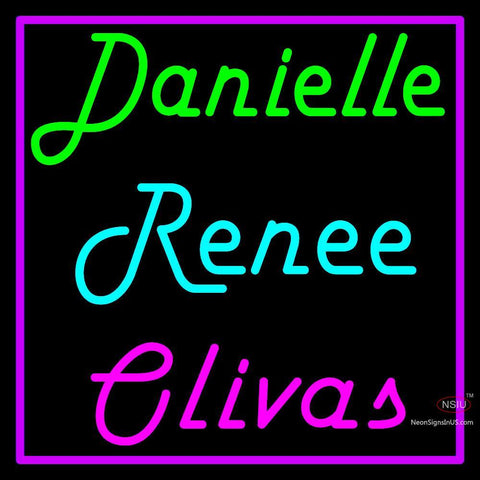 Custom Danielle Renee Olivas Neon Sign