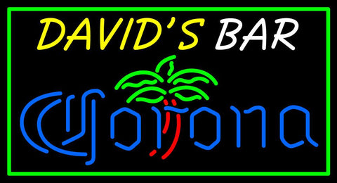 Custom Davids Bar Corona Logo Neon Sign