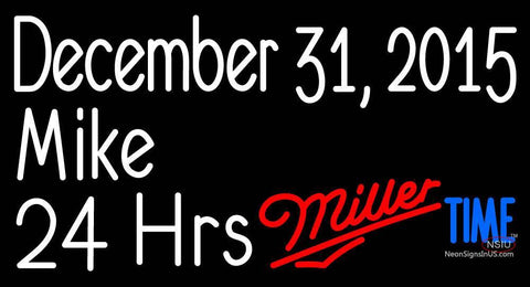 Custom December   Mike  Hrs Miller Time Neon Sign
