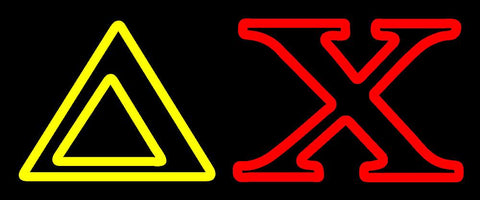 Yellow Delta Red Chi Neon Sign